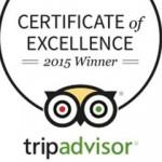 2015 TripAdvisor Certificate of Excellence