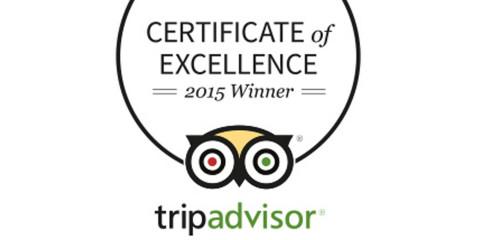 KOMOON BONITA SPRINGS AWARDED 2015 TRIPADVISOR CERTIFICATE OF EXCELLENCE
